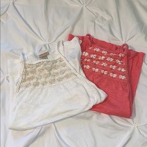 White and Coral Tank Top Bundle